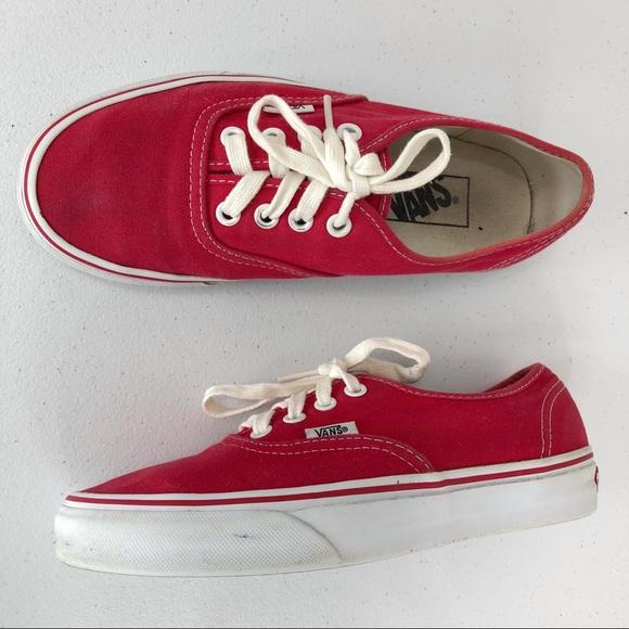 Vans Shoes | Vans Red Sneakers Men Size
